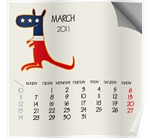 March 2011 animals Poster