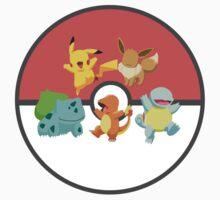 Pokemon Generation One Starters Kids Clothes