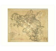 Civil War Battlefield of Spottsylvania Map May 8th-21st 1864 Art Print