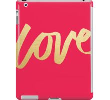 Love Gold Pink  iPad Case/Skin