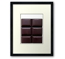 6 pack chocolate abs Framed Print