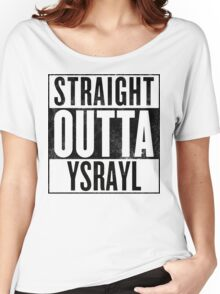 STRAIGHT OUTTA YSRAYL BKL Women's Relaxed Fit T-Shirt