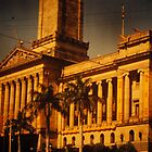 Brisbane City Hall 1954 by Soxy Fleming