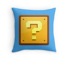 Mario Question mark  Throw Pillow