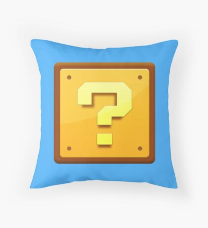 Mario Question mark  Throw Pillow
