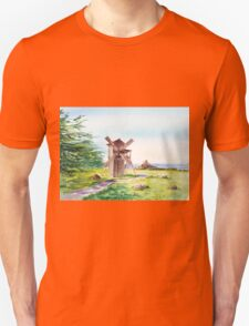 Landscape With Windmill Fort Ross California Unisex T-Shirt