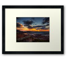 Sunset from the Wall of Fort Tourgis - Alderney Framed Print