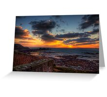 Sunset from the Wall of Fort Tourgis - Alderney Greeting Card