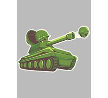 Peas and Tanks Photographic Print