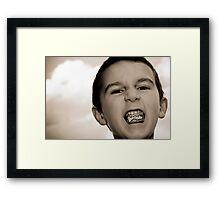 Bazooka Kid Framed Print