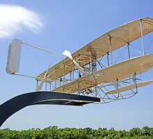 Replica of the Wright Flyer at Dayton Ohio by Chris L Smith