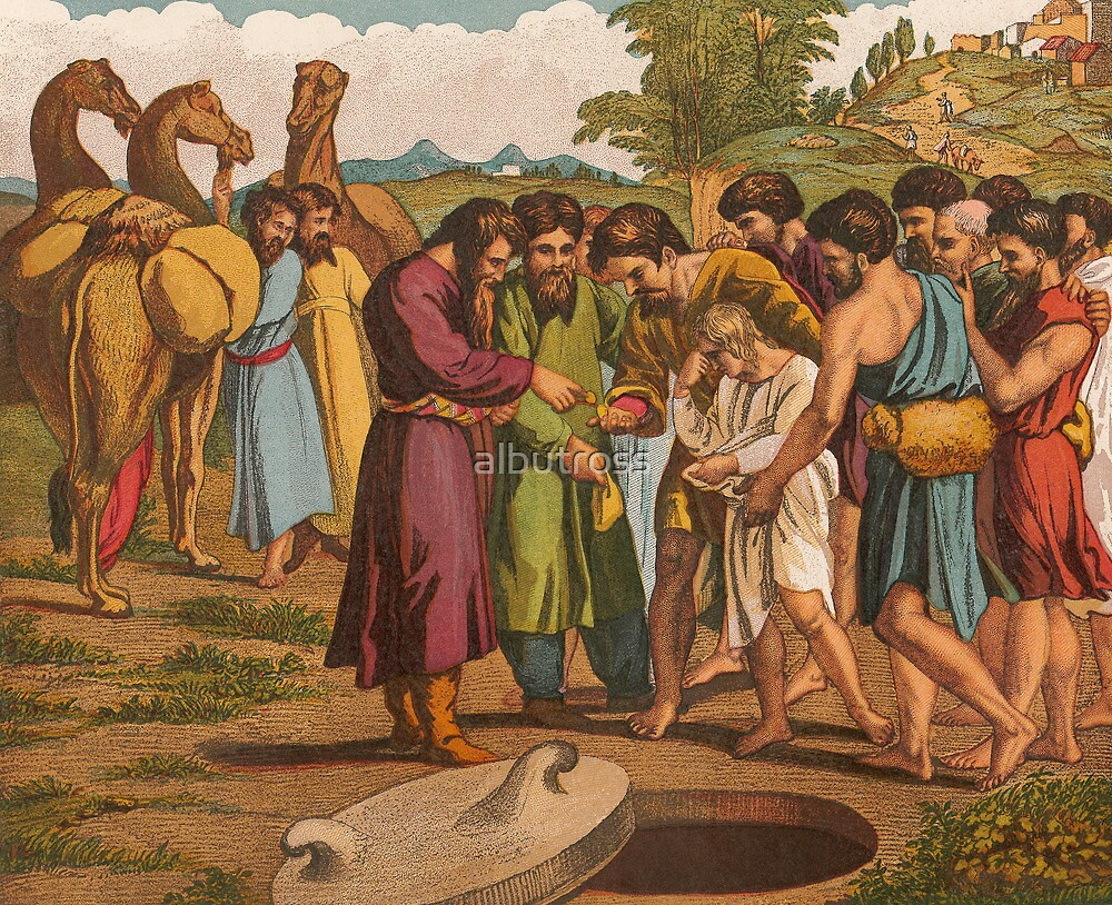 Joseph being sold by his Brethren. by albutross