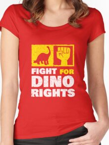 Fight For Dino Rights Women's Fitted Scoop T-Shirt