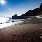 Meadfoot Beach Silhouette  by pixel8it
