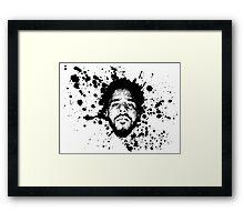 J.Cole (Ink Splatter)  Framed Print