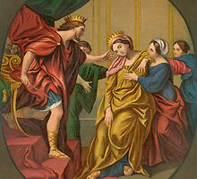 Esther brought to King Ahasuerus. by albutross
