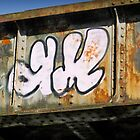 Graffiti on Bridge by Chris West