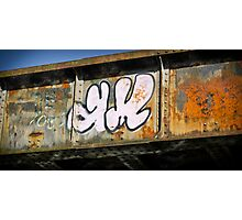 Graffiti on Bridge Photographic Print