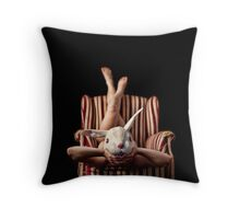The White Rabbit Chronicles #3 Throw Pillow