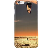 Kitesurfing at Ainsdale Beach iPhone Case/Skin