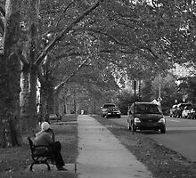 down the street, b/w image by DoctorH