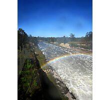 Rainbow River on Wivenhoe Dam Photographic Print