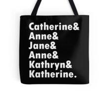 Wives of king henry viii geek funny nerd Tote Bag