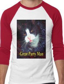 great Party Man  Men's Baseball ¾ T-Shirt