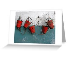Pails Greeting Card