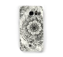 Messy Boho Floral in Charcoal and Cream  Samsung Galaxy Case/Skin