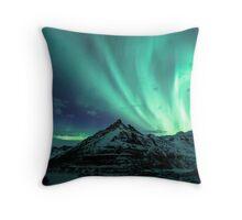 Above the mountain Throw Pillow