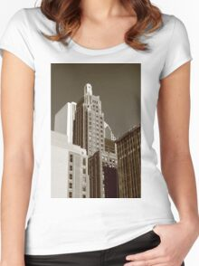 Chicago Skyscrapers Women's Fitted Scoop T-Shirt