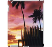 Surfboard sunset iPad Case/Skin