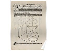 Measurement With Compass Line Leveling Albrecht Dürer or Durer 1525 0142 Repeating and Folding Shapes Poster