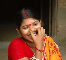 Young Indian Woman, Mayapur, West Bengal. by Adam Branford
