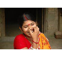 Young Indian Woman, Mayapur, West Bengal. Photographic Print
