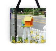 Multi-colored Bird Houses Tote Bag