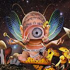 """Aryan Cyclops Baby...in a Garden of Panoramic Shrooms"" by atomikboy"