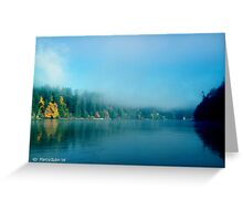 Puget Sound Morning Fog - Blank Greeting Card Greeting Card