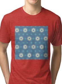 Pattern in circles, dot and flowers Tri-blend T-Shirt