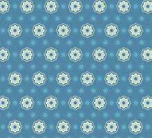 Pattern in circles, dot and flowers by alijun