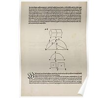 Measurement With Compass Line Leveling Albrecht Dürer or Durer 1525 0158 Repeating and Folding Shapes Poster