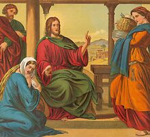 Jesus in Martha's house. by albutross