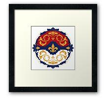 Ornate Pokeball Framed Print