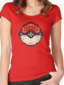 Ornate Pokeball Women's Fitted Scoop T-Shirt