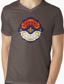 Ornate Pokeball Mens V-Neck T-Shirt