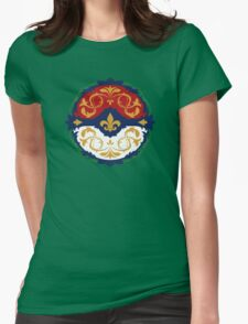Ornate Pokeball Womens Fitted T-Shirt