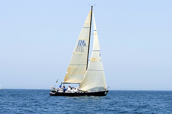 Yachting on Lake Huron by Chris L Smith