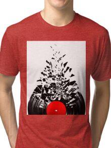 Vinyl shatter Tri-blend T-Shirt