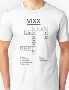VIXX crossword puzzle design T-Shirt